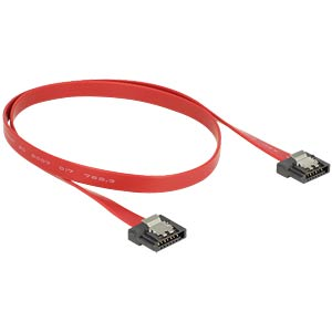 Cable SATA FLEXI 6 Gb/s 50 cm red metal DELOCK 83835