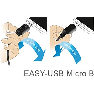 Cable EASY-USB 2.0-A m.>Micro USB 2.0 m. 1m DELOCK 83844