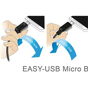 Cable EASY-USB 2.0-A m.>Micro USB 2.0 m. 0.5m DELOCK 83845