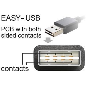 USB 2.0 Kabel, EASY A Stecker auf Micro B Stecker, 1 m DELOCK 83848