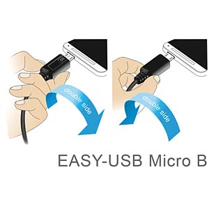 Cable EASY-USB 2.0-A male>Micro USB 2.0 m. angled u/d 0.5 m DELOCK 83848