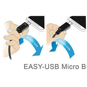 Kabel EASY USB 2.0-A > Micro-B o/u 0,5 m DELOCK 83849