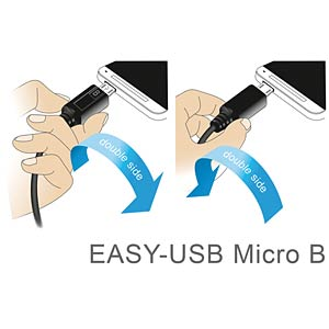 Cable EASY-USB 2.0-A male>Micro USB 2.0 m. angled l/r 0.5 m DELOCK 83856