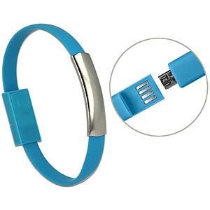 USB A Stecker > Micro B Stecker Armband blau DELOCK 83947