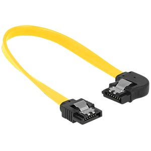 SATA 6 Gb/s male>male lft. ang. 20 cm yellow DELOCK 83958