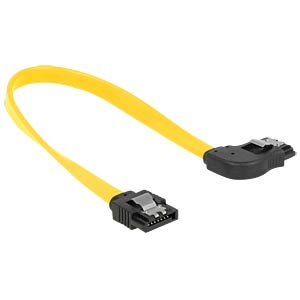 SATA 6 Gb/s male>male rgt. ang. 20 cm yellow DELOCK 83960
