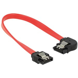 SATA 6 Gb/s male>male lft. ang. 20 cm red DELOCK 83962