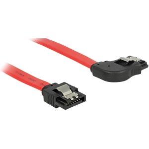 SATA 6GB/s St.> SATA St. re. 50 cm rot Metall DELOCK 83969