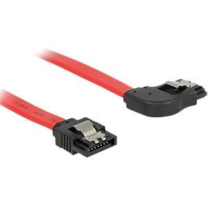 SATA 6GB/s St.> SATA St. re. 70 cm rot Metall DELOCK 83970
