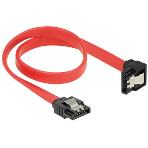 SATA 6 Gb/s male>male downw. ang. 30 cm red DELOCK 83978