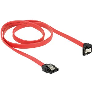 SATA 6 Gb/s male>male downw. ang. 70 cm red DELOCK 83980