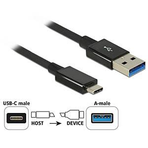 USB3.1 Gen2 USB Typ-C ma.>Typ-A ma. 1.0m bl. DELOCK 83983