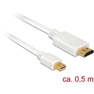 Delock Kabel miniDP 1.1 Stecker > HDMI-A Stecker, weiß, 50 cm DELOCK 83993