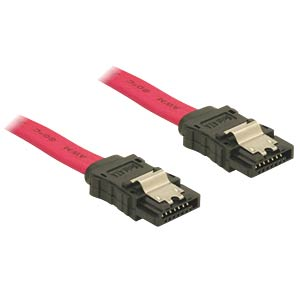 Cable SATA 70cm red str/str Metall DELOCK 84301