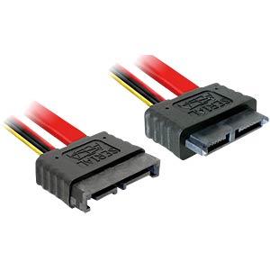 Kabel slim SATA 13 pin St/Bu Verläng.  30cm DELOCK 84374