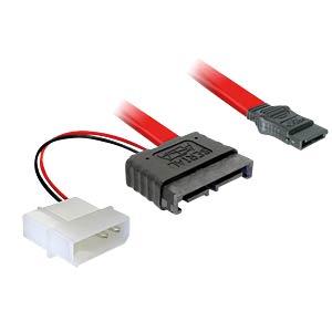 Cable slim SATA 13 Pin St > 7 Pin + 5 V 30cm DELOCK 84377