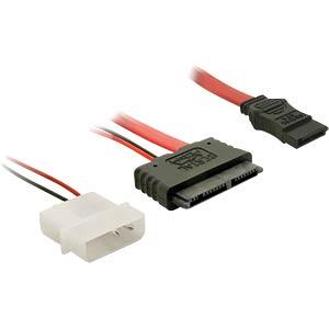 Micro SATA 16 Pin St > 7 Pin + 5 V Molex 30cm DELOCK 84384