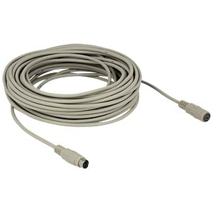 Cable PS/2 plug > jack 15 m DELOCK 84705