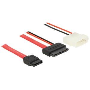 Kabel Slim SATA 13 Pin Bu > 7 Pin + 5 V 70 cm DELOCK 84791