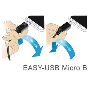 Cable EASY-USB 2.0-A m.>Micro USB white 0.2m DELOCK 84805