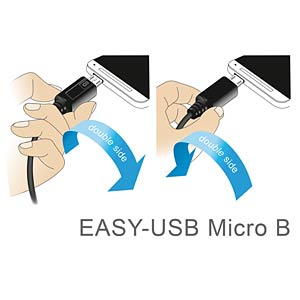 Cable EASY-USB 2.0-A m.>Micro USB white 0.5m DELOCK 84806
