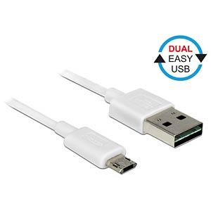 Cable EASY-USB 2.0-A m.>Micro USB white 2.0m DELOCK 84808