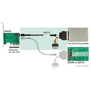 U.2 SFF-8643 Stecker>SFF-8639 Stecker+SATA 50 cm DELOCK 84819