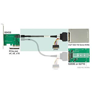 U.2 SFF-8643 St.gew.>SFF-8639 St.+SATA  75cm DELOCK 84822