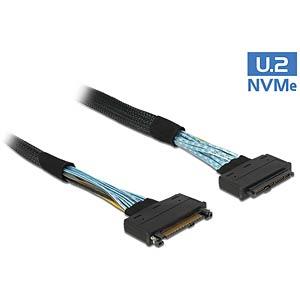 Extension cable U.2 SFF-8639 male > U.2 SFF-8639 female 0.5 m DELOCK 84829