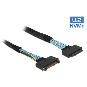 Extension cable U.2 SFF-8639 male > U.2 SFF-8639 female 1 m DELOCK 84830