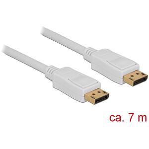 Kabel 4K DisplayPort 1.2 Stecker > DisplayPort Stecker, weiß, 7 DELOCK 84861