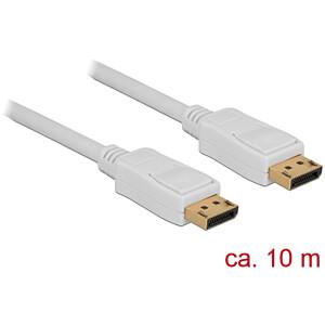 Kabel 4K DisplayPort 1.2 Stecker > DisplayPort Stecker, weiß, 10 DELOCK 84863