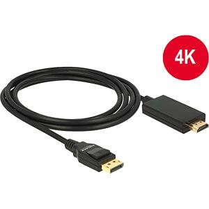 Delock Kabel DP 1.2 Stecker > HDMI-A Stecker, schwarz, 2 m DELOCK 85317