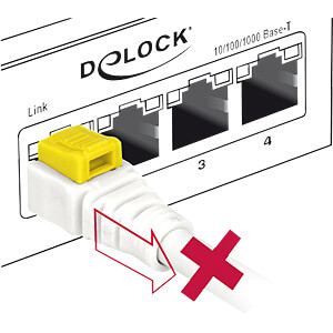 Patchkabel RJ45 Cat.6A SFTP Secure 2,0 m DELOCK 85332