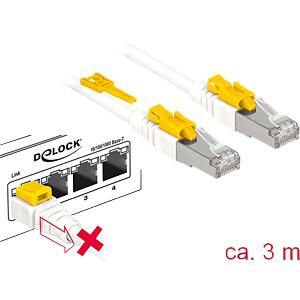 Patchkabel RJ45 Cat.6A SFTP Secure 3,0 m DELOCK 85333