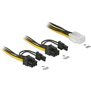 Delock Kabel Power PCIe 6 pin Buchse  > 2x 8 pin Stecker,  15 cm DELOCK 85452