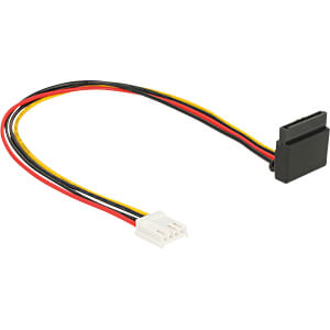 Kabel Power SATA 15 Pin Latchtype oben gewinkelt > Floppy 4 Pin DELOCK 85510