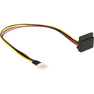 Kabel Power SATA 15 Pin Latchtype oben gewinkelt > Floppy 4 Pin DELOCK 85511