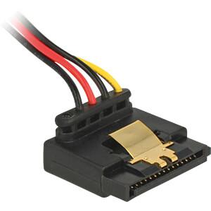 Kabel Power SATA 15 Pin Latchtype oben gewinkelt > Molex 4 Pin 3 DELOCK 85513