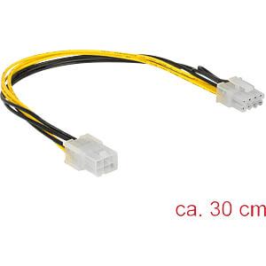 Kabel Power PCIE 6 Pin Bu > 8 Pin St PCIE 30 cm DELOCK 85535