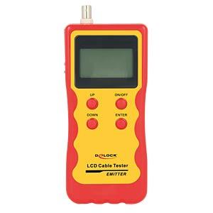 LCD Kabeltester RJ45 / RJ12 / BNC / USB DELOCK 86108