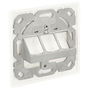 Keystone Wall Outlet 3 Port compact DELOCK 86194