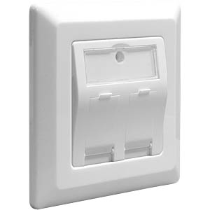 Keystone junction box, 2 port DELOCK 86202