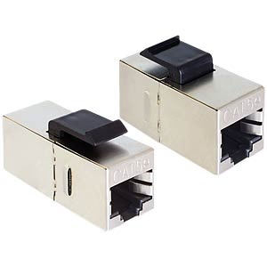 Keystone RJ45 socket > RJ45 socket cat.5e DELOCK 86204