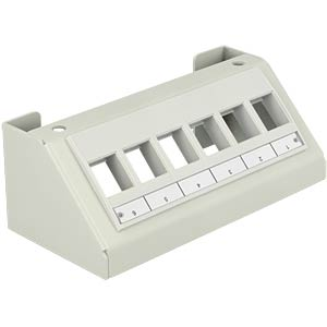 Keystone Multimedia Panel 6 Port grau DELOCK 86218