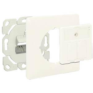 Keystone Anschlussdose 2 Port kompakt DELOCK 86219