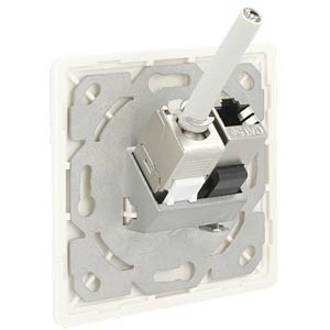 Keystone Wall Outlet 2 Port compact DELOCK 86219