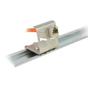 Keystone Metall Halterung 2 Port für Hutschienen DELOCK 86255