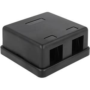 Keystone Leergehäuse 2 Port- schwarz DELOCK 86257
