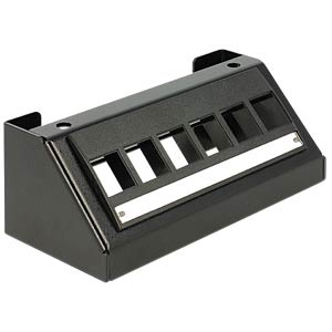 Keystone 6-port multimedia panel bracket DELOCK 86268
